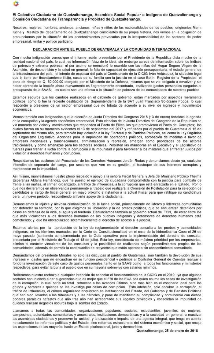 ComunicadoorganizacionesQuetzaltenango