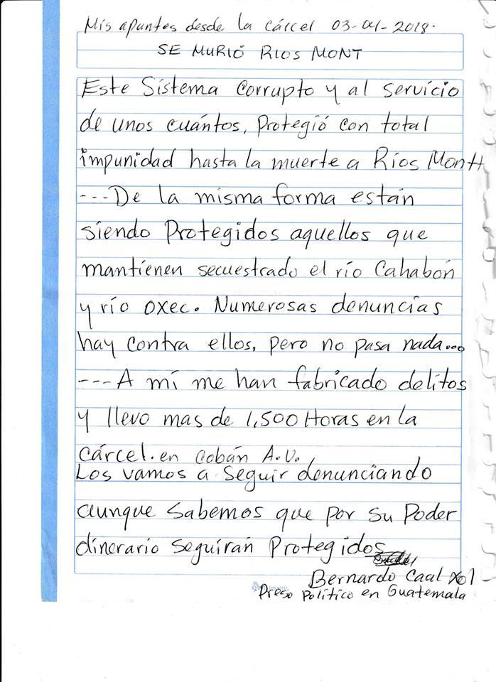 Bernardo Caal 3 de abril