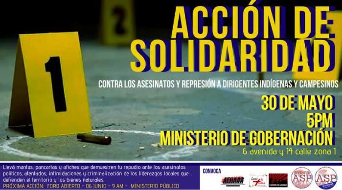 Acción de solidaridad contra persecución política